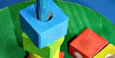 DIY Wooden Blocks Toddlers Stacking Toy is super simple to make.Here's a simple tutorial for you to make a colorful homemade wooden stacking toy. Diy Craft Projects, Diy Arts And Crafts, Craft Tutorials, Sewing Projects, Sewing Tutorials, Wood Crafts, Craft Ideas, Sewing Diy, Sewing Patterns