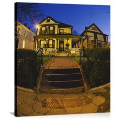 Solid-Faced Canvas Print Wall Art Print entitled Facade of a house, Birthplace of Martin Luther King Jr, Atlanta, Georgia Mary Mcleod Bethune, Wall Art Prints, Poster Prints, Atlanta Skyline, Panoramic Pictures, Georgia Girls, Rosa Parks, Celebrity Houses, King Jr