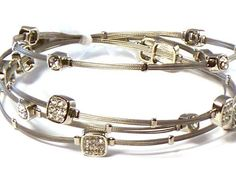 Silver Whispers Bracelet, Wire Bracelet, Designer Inspired with Rhinestones Hail Mary Gifts, http://www.amazon.com/dp/B007SHD80M/ref=cm_sw_r_pi_dp_Q2JNqb1NBJ0YX