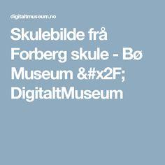 Skulebilde frå Forberg skule -                 Bø Museum /          DigitaltMuseum