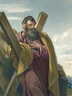 "Meet the Apostle Andrew, Brother of Peter: Tradition says Andrew died a martyr on a <a href=""http://christianity.about.com/od/biblefactsandlists/tp/crucifixionforms.htm"">Crux Decussata</a>, or X-shaped cross."
