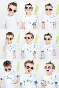 Paint splattered T-shirts! Amazing photo - op for the entire family. Yeah!!