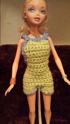 # 10 Barbie Bib Shorts front