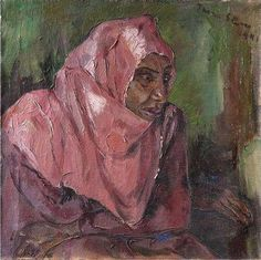Portrait+of+a+Woman+Wearing+a+Pink+Hijab+-+Irma+Stern