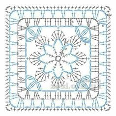 Transcendent Crochet a Solid Granny Square Ideas. Wonderful Crochet a Solid Granny Square Ideas That You Would Love. Point Granny Au Crochet, Granny Square Crochet Pattern, Crochet Blocks, Crochet Diagram, Crochet Chart, Crochet Squares, Crochet Diy, Crochet Doilies, Crochet Flowers