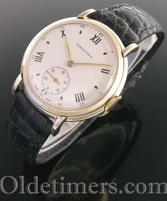 1950s 9ct gold large round vintage Longines watch (4031)
