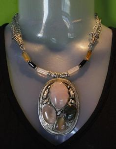 bombaybead | Products | Necklace Set | Tibetan Silver Pendant Necklace