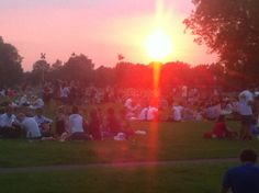 Clapham Common on a nice and sunny evening