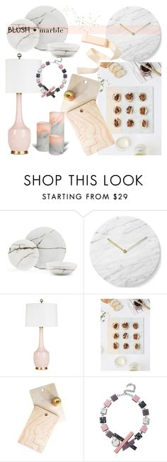 """Blush + marble"" by iiannanasii on Polyvore featuring interior, interiors, interior design, home, home decor, interior decorating, Menu, DENY Designs, Eshvi and Home"