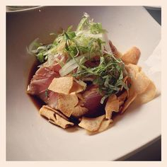 #tuna #tataki with #garlic chips at #izakayaseki #foodporn by mjahshan