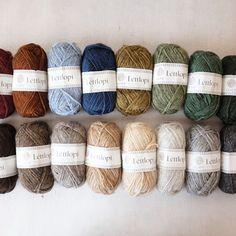 Crochet Crafts, Knit Crochet, Yarn Colors, Colours, Icelandic Sweaters, Yarn Inspiration, Fair Isle Knitting, Needle And Thread, Wool Yarn