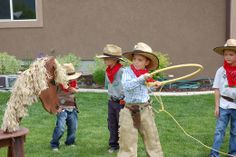 lasso w hula hoop restlessrisa: Cowboy Party Games & Presents! lasso w hula . Rodeo Party, Cowboy Party Games, Rodeo Birthday Parties, Indian Birthday Parties, Cowboy Theme Party, Horse Party, Cowgirl Birthday, Farm Party, Cowboy Birthday Party Games