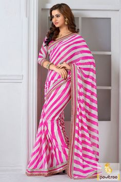 Get the stylish elegance in this captivating pink and white color silk saree online shopping with discount offer. Purchase this georgette saree online with discount. #partywearsaree, #partysaree, #designerpartysaree, #embroiderysaree, #designersaree, #georgettepartysaree, #discountoffer,   #pavitraafashion, #utsavfashion, #onlinesareeshopping, #printedpartysaree, #silkpartysaree, #indiansaree http://www.pavitraa.in/store/embroidery-saree/ callus:+91-7698234040