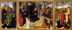 Hugo van der Goes, The Portinari Triptych, 1475 Oil on panel. 99 5/8 x 230 11/16 in. (253 x 586 cm) total. Uffizi, Florence