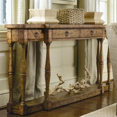 Lowest price online on all Hooker Furniture Sanctuary Four Drawer Thin Console in Drift - 3001-85001
