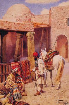 The carpet Merchant, Giulio Rosati (1858 - 1917)