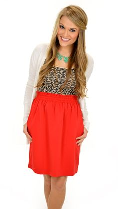 A great fit with a longer hemline and ahhdorable color!! $46 at shopbluedoor.com