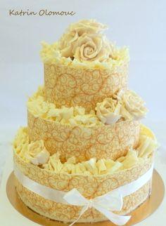 Svatební dort v čokoládě