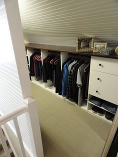 attic as closet storage