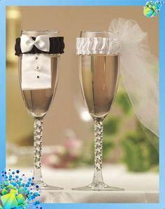 Romantic ideas for Wedding glasses