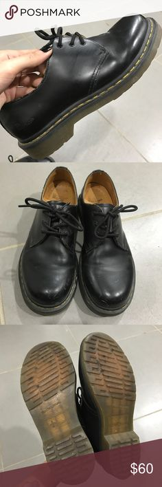 Dr Martens black shoes Few scratches/broken in. Make an offer! Dr. Martens Shoes