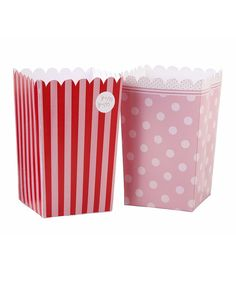 Pretty in pink. This darling set is perfect for adding a dainty touch to tea parties, baby showers and beyond. Fill them with popcorn or candies for a tempting treat!Includes eight holders3.14'' W x 14'' HPaperImported