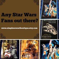 Star Wars print fleece tie blanket, reversible tie blankets. Shop here: https://www.etsy.com/shop/Simpleesweetboutique?ref=l2-shopheader-name #starwars #theforceawakens