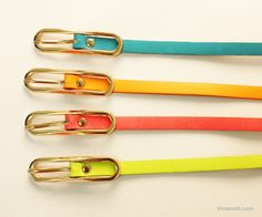 Neon Color Skinny Belt Skinny Belt, Neon, Personalized Items, Leather, Accessories, Color, Neon Colors, Colour, Neon Tetra