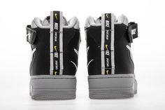 Nike Air Force 1 Mid LV8 GS 'Overbranding' Cool Glray AV3803 001 - Hookicks Air Force 1 Mid, Nike Air Force, Yeezy 350 V2 Black, New Nike Air, Jordan 4, Air Jordans, Air Jordan