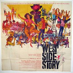 WEST SIDE STORY Movie Poster (1961) Own this and Across the universe  and Chicago  and    and and and  have to own them!!!!