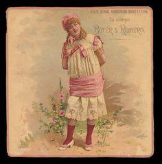 1  ANCIEN GRAND CHROMO - Fille avec vêtement de dentelle - Boyer &Romero