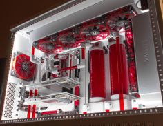 Extremely sexy red and white machine