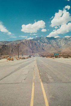 Desert Mountains, Palm Springs, CA. 35mm Film Photography Print.