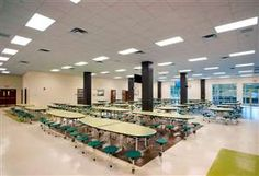 Lake Area High School Cafeteria, Designer: Fanning Howey via @SchoolDesigner