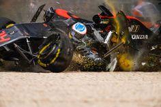 フェルナンド・アロンソ、開幕戦のクラッシュの衝撃は46G  [F1 / Formula 1]