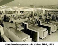 Cuba before fidel castro, supermarket chain  ( Ekloh 1955 Cuba )