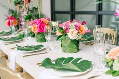 Photography: Aaron and Jillian Photography - www.Aaronandjillian.com   Read More on SMP: http://www.stylemepretty.com/living/2017/02/24/winter-schminter-were-giving-our-brunch-a-tropical-vibe/