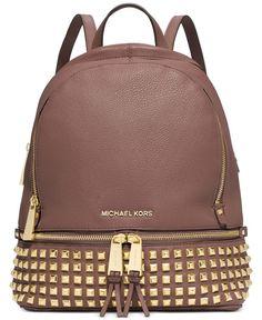MICHAEL Michael Kors Rhea Studded Backpack   macys.com