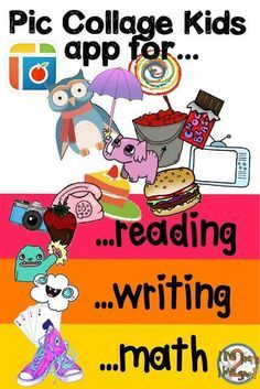 Pic Collage kids has tons of free stickers. Use them to make projects for reading, writing and math.