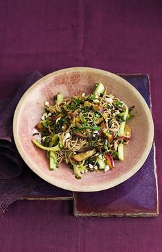 If you're looking for a summery salad recipe that also fills you up, this is it. The flavours of aubergine, cucumber, feta and mint work brilliantly a