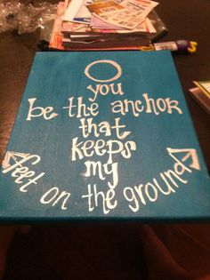 Aqua and metallic silver christian saying canvas art by OBWDesigns, $25.00.....i could so make this myself.