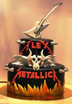 Tarta fondant del grupo de musica Metallica, sabor vainilla y chocolate. -Fondant cake Metallica music group, vanilla and chocolate flavor. https://www.facebook.com/media/set/?set=a.981100925241315.1073741868.812752898742786&type=1