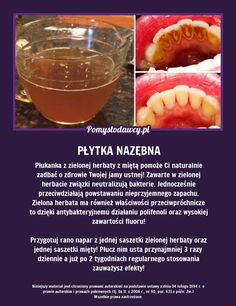 TAK W PROSTY SPOSÓB USUNIESZ PŁYTKĘ NAZĘBNĄ LEPIEJ NIŻ GOTOWYM PŁYNEM DO PŁUKANIA UST Health Diet, Health Fitness, Cosmetic Treatments, Simple Life Hacks, Natural Cosmetics, Good Advice, Healthy Tips, Beauty Care, Tricks