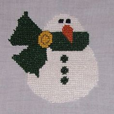 This Little Snowman is one of the free cross stitch patterns here at Stitching the Night Away … click here to get the pattern. Jackie sent this cute little guy to me this week and I was so happy to see him all stitched up and ready for the first snowfall of the season! If you stitch any of the...