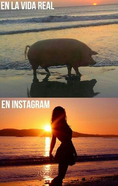 En la vida real y en instagram