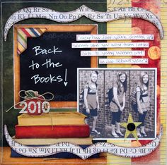 cute back to school layout by Shanna