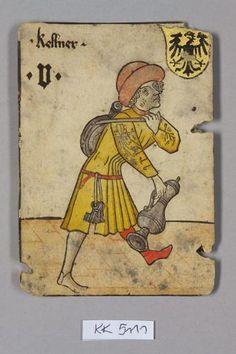 """Kellner [serveur ou serviteur], Deutschland aus dem """"Hofämterspiel"""" für König Ladislaus """"Postumus"""" (?)"""