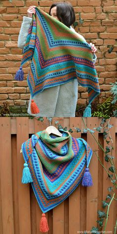 River's Walk Shawl Free Crochet Pattern