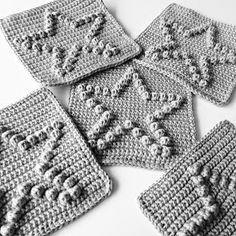 Angels handmade with love: Bobble star blanket (met patroon!)