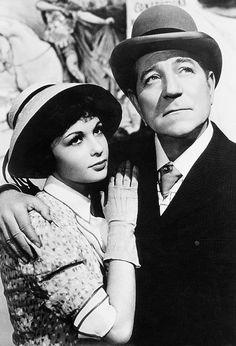 Françoise Arnoul and Jean Gabin in Jean Renoir's French Cancan (1954).